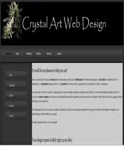 Crystal Art Web Design